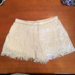 White lace short!